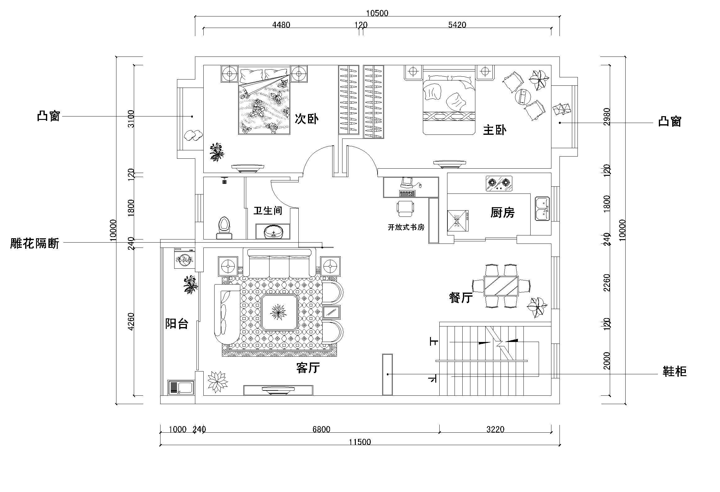 国外农村平房设计图纸