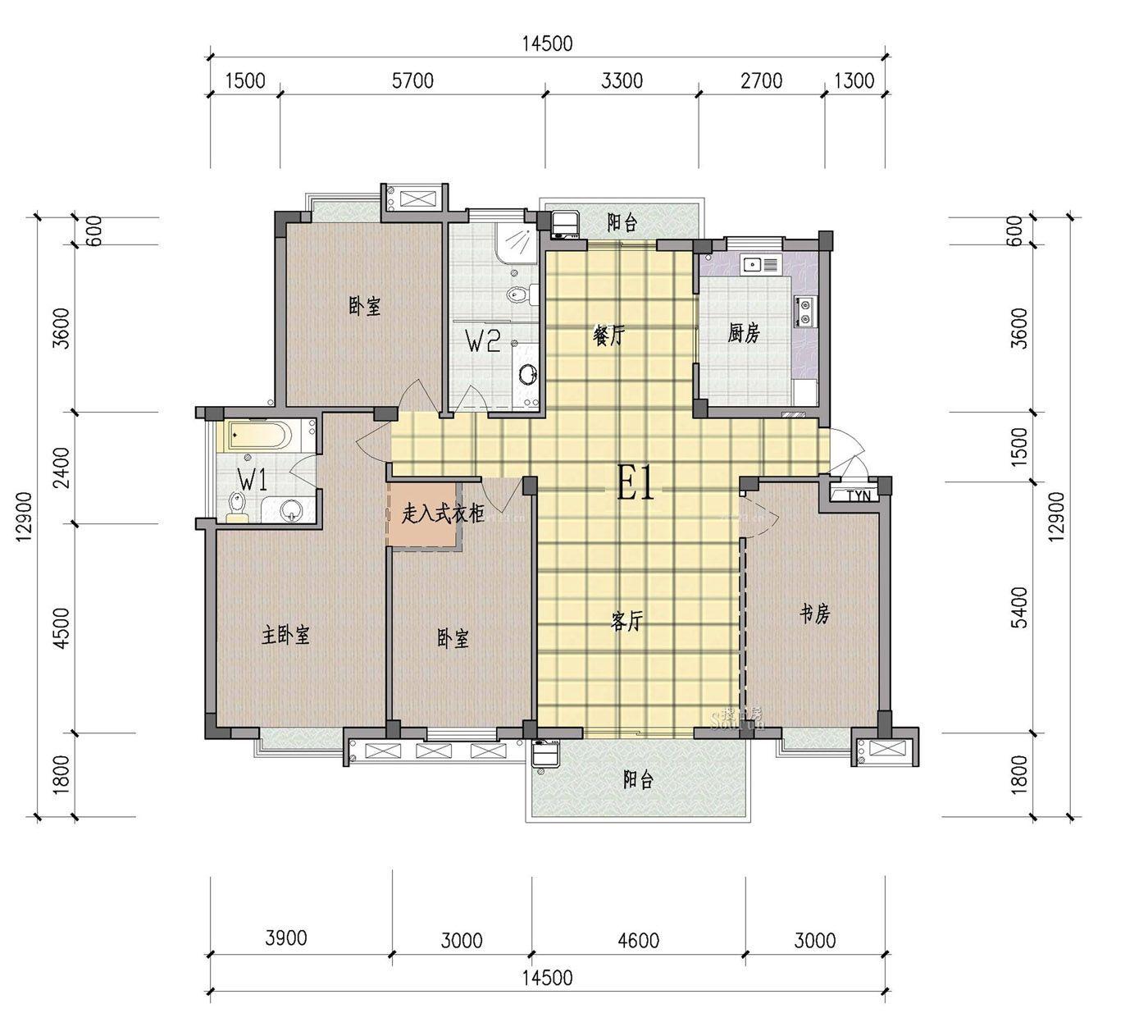 新型农村平房室内设计图展示图片