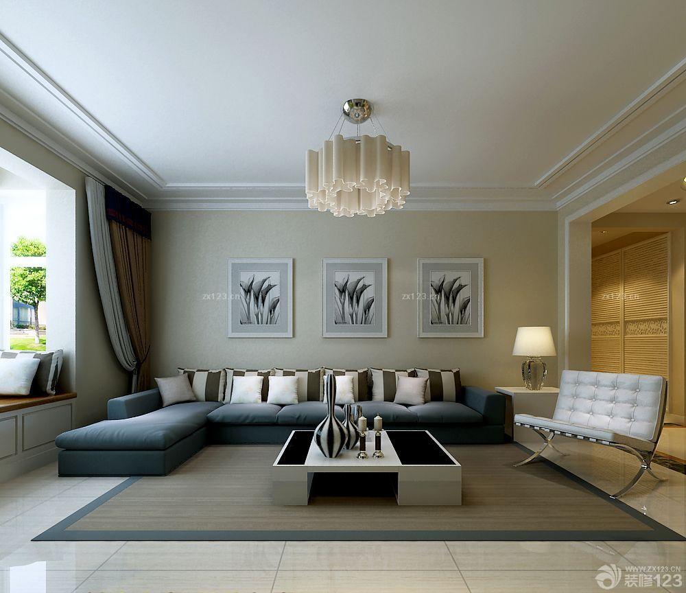 家装客厅石膏线条装修案例图