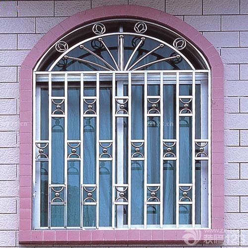 欧式不锈钢防盗门窗效果图图片