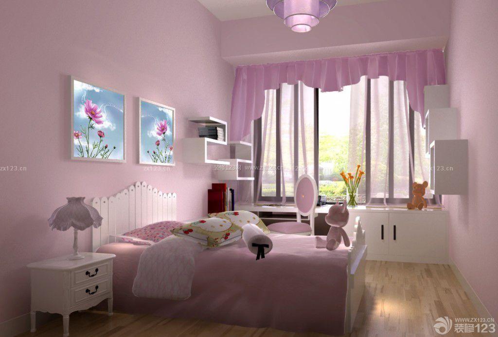 可爱温馨89平房子装修设计图