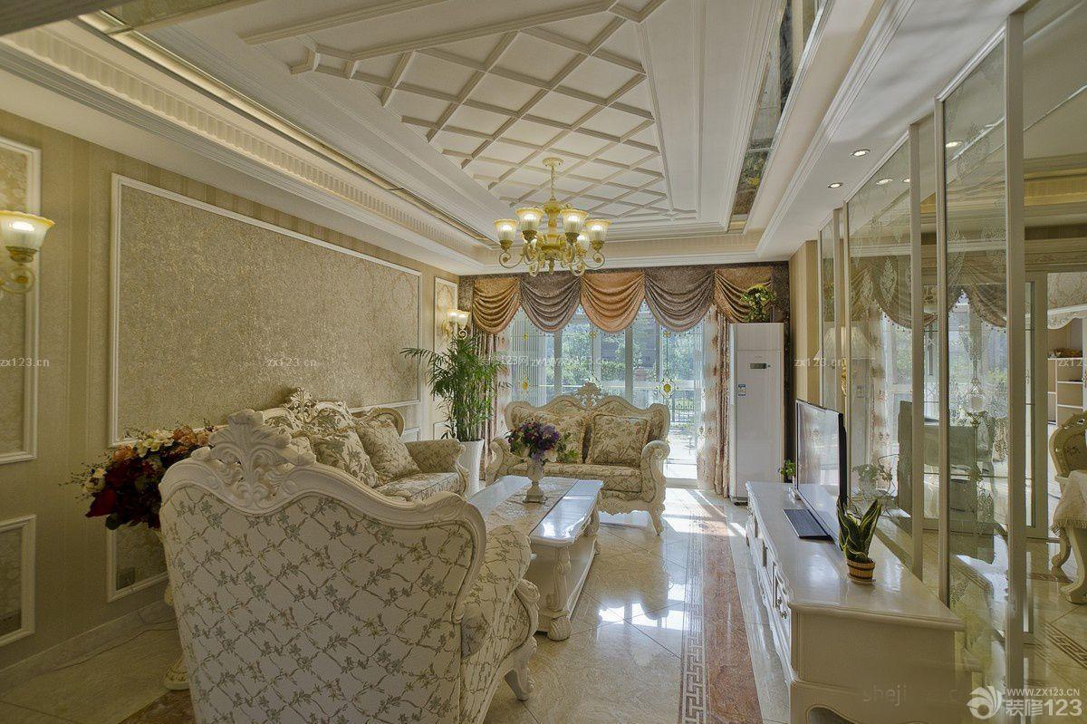 经典大客厅石膏线条设计图