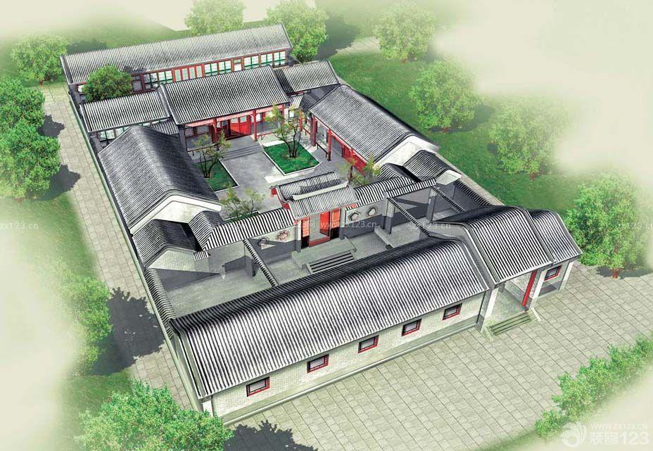 中式古典风格四合院设计图片大全