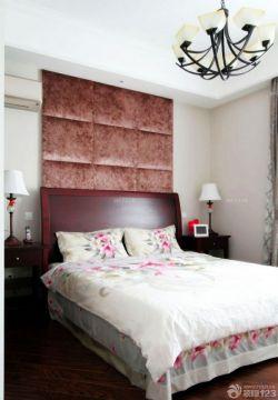 主臥室床頭軟包背景墻設計圖