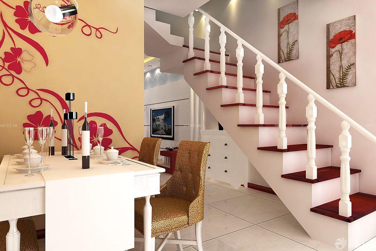 小平米复式楼楼梯设计效果图欣赏图片