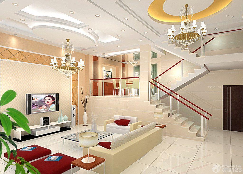 豪华欧式风格小平米复式楼设计效果图