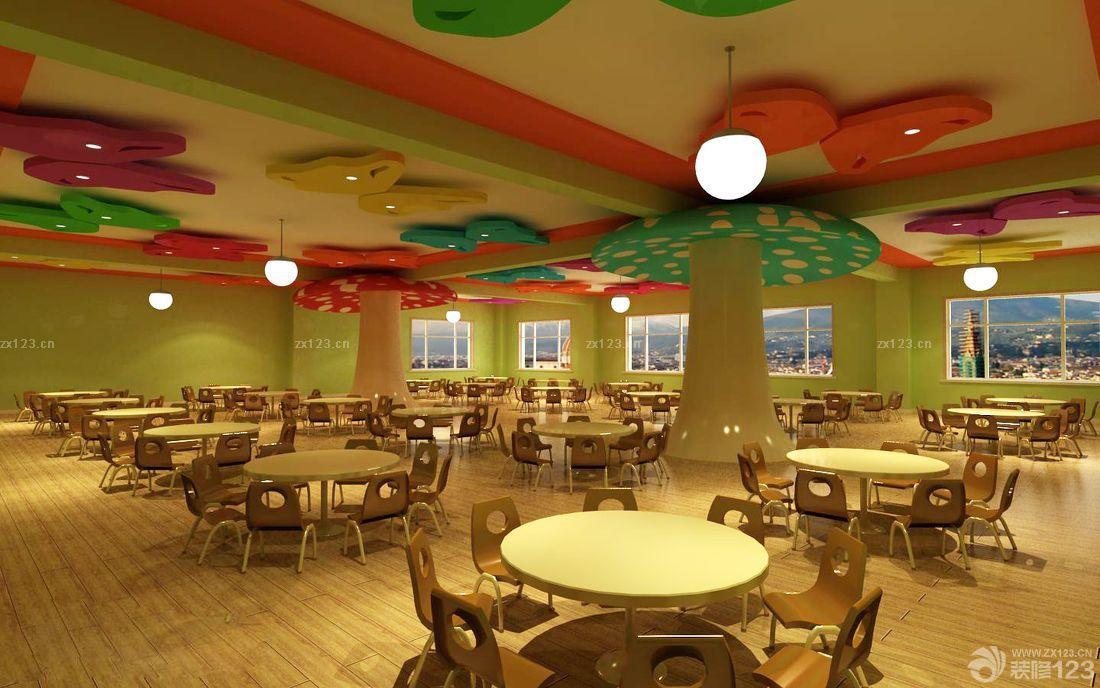 幼儿园餐厅吊饰布置图片欣赏