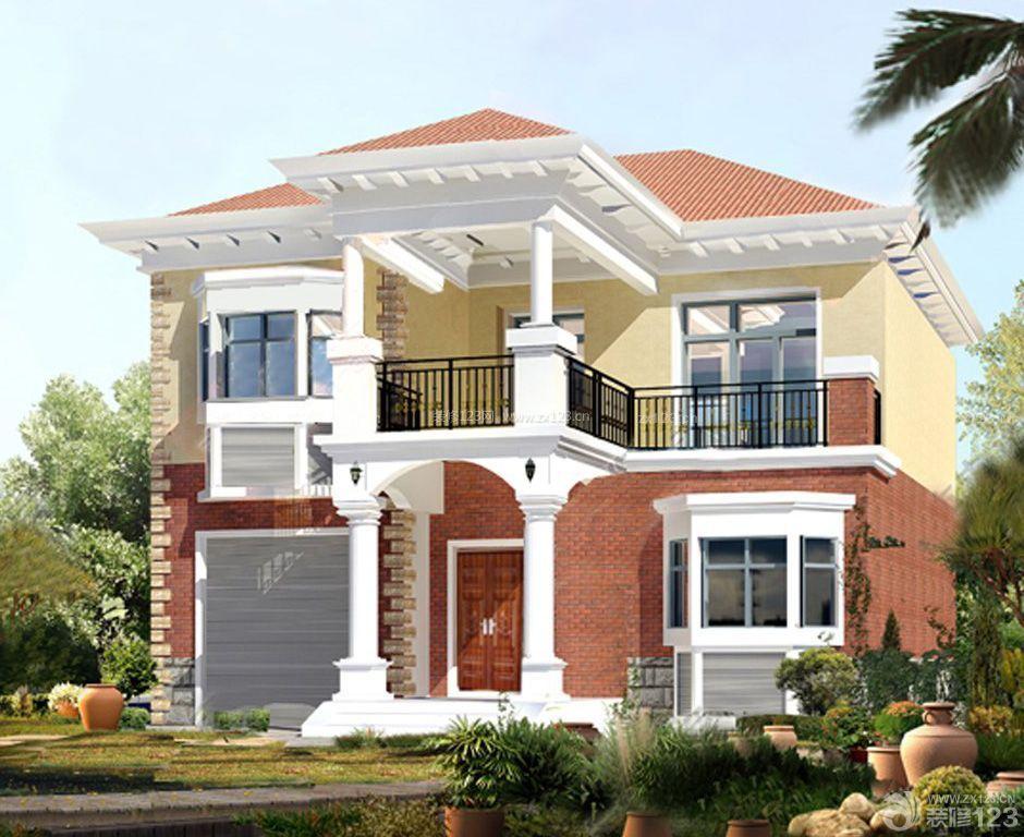 现代风格农村二层房屋设计效果图
