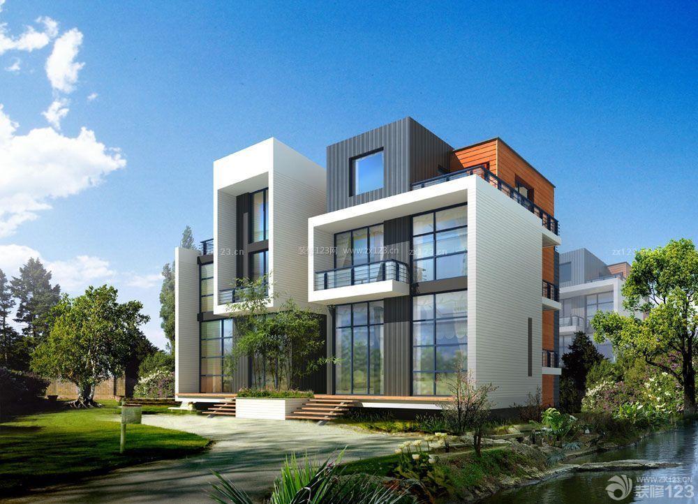 创意高档别墅外观设计效果图