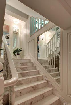 高檔別墅室內樓梯設計效果圖