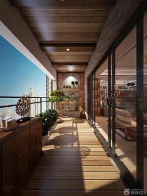 简欧风格别墅封闭式阳台装修效果图片