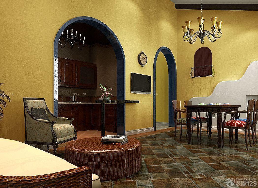 客厅进门玄关门框造型隔断设计图