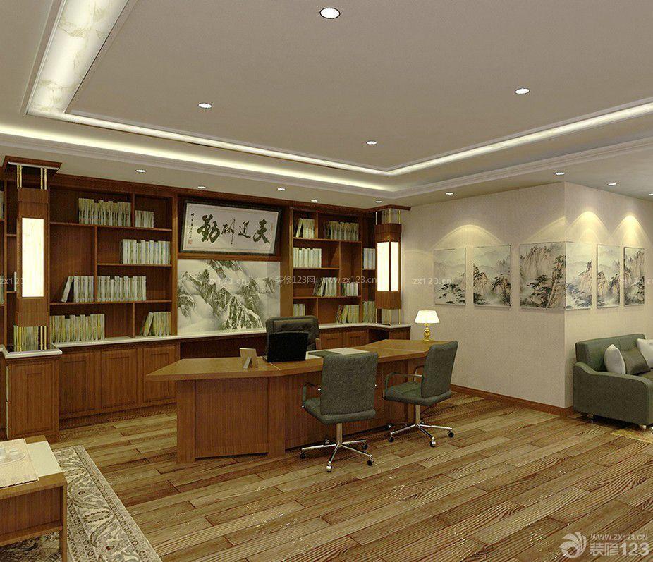 老板办公室书柜设计图