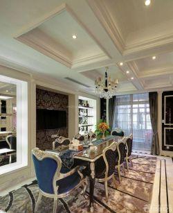 歐式風格80平米小戶型躍式餐廳裝修設計欣賞