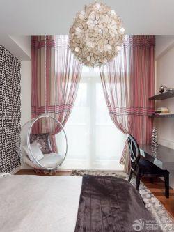經典臥室秋千椅設計效果圖