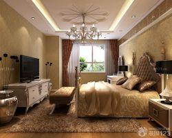 歐式臥室宮廷雙人床設計圖