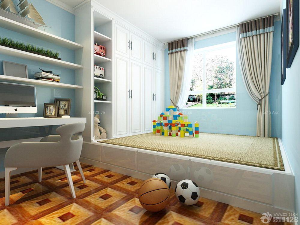 儿童小房间榻榻米床设计图片