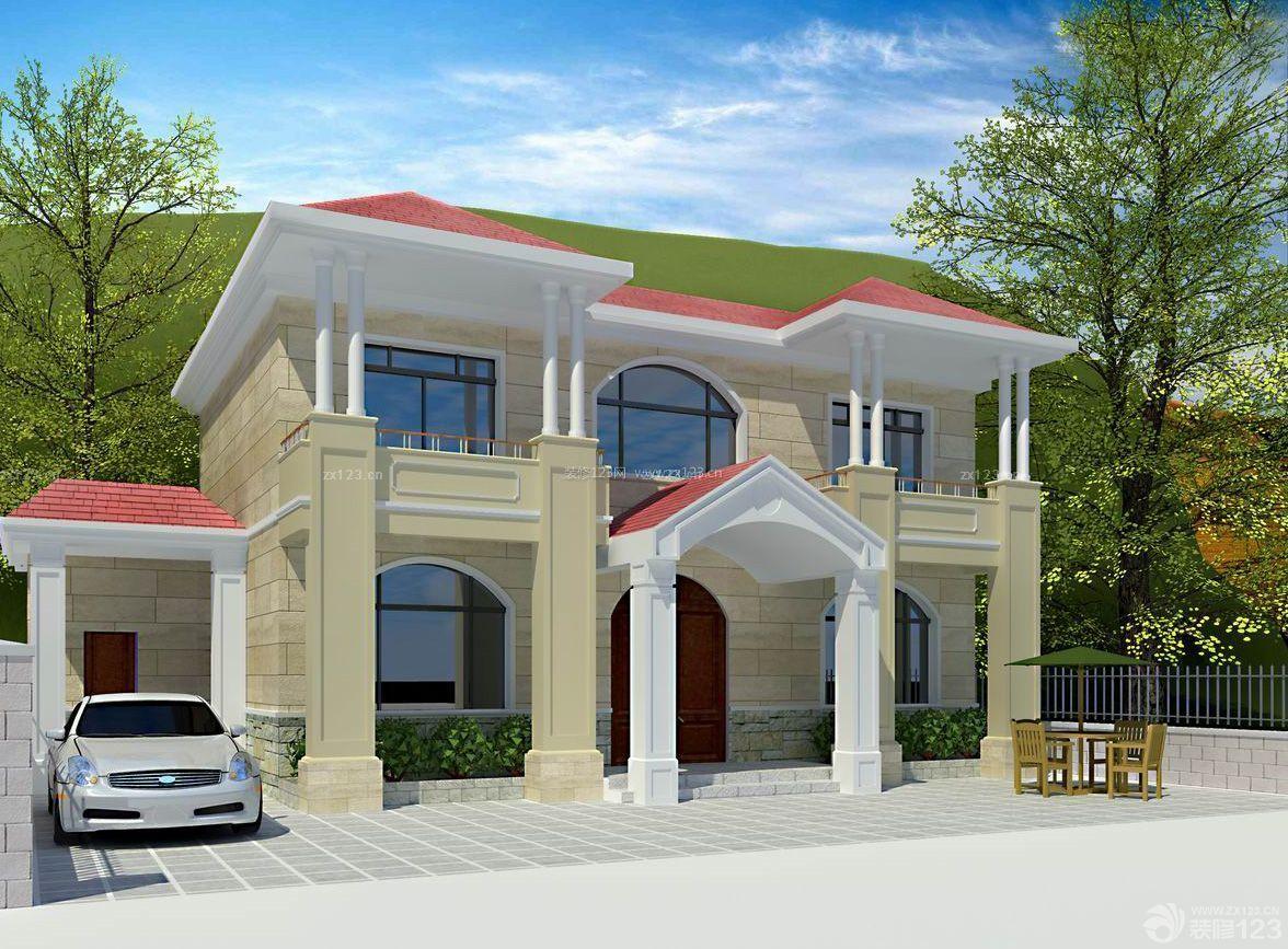 独栋别墅外墙砖装修效果图