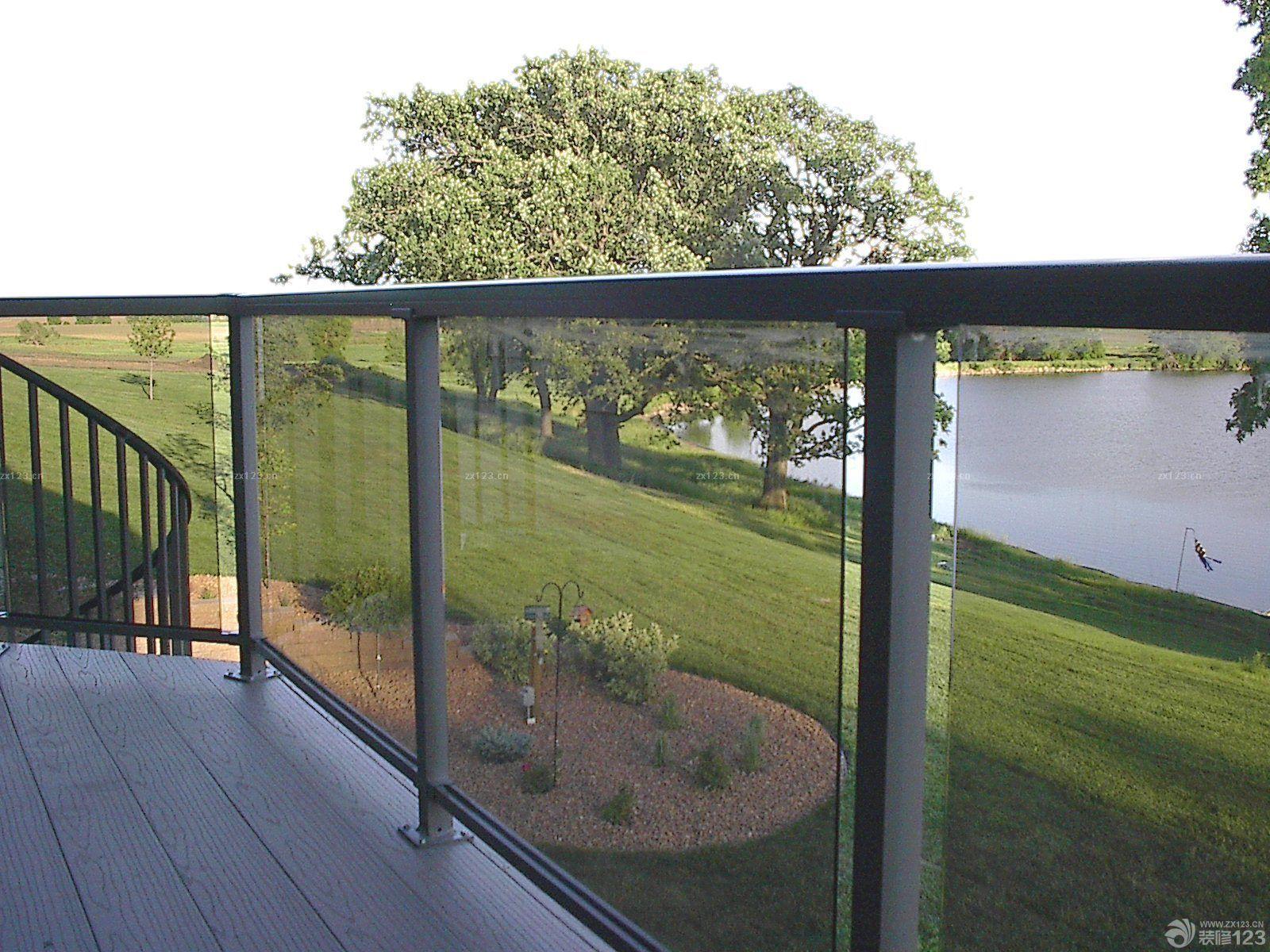 简欧风格别墅不锈钢护栏效果图图片