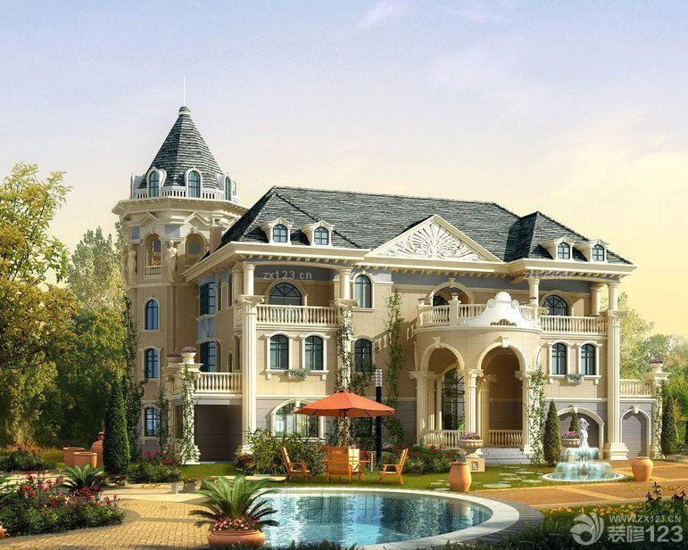 豪华别墅外墙砖设计效果图