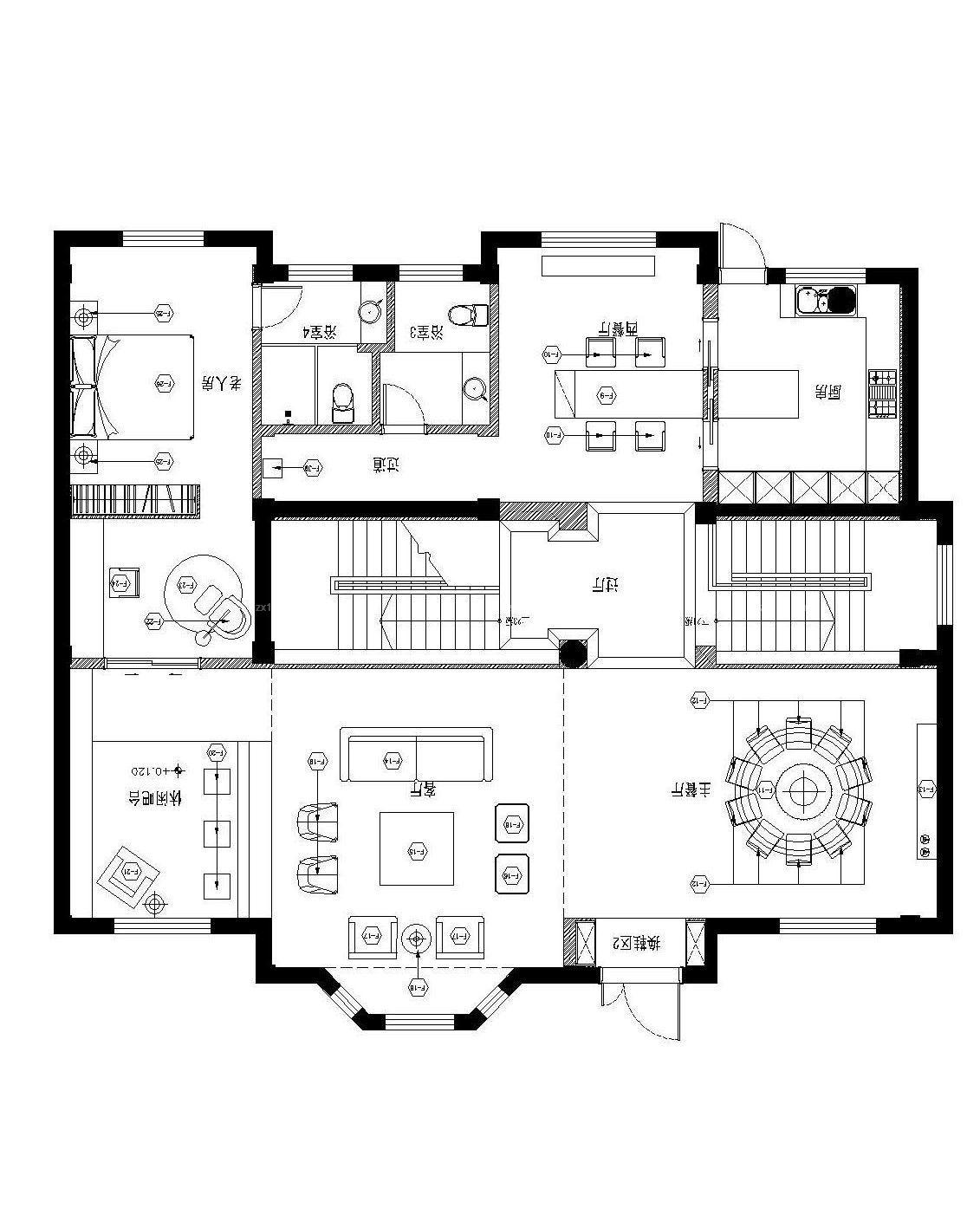一层复式小别墅设计图-农村复式别墅设计图|农村一层小别墅设计