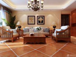 家裝客廳樣板房設計實景圖