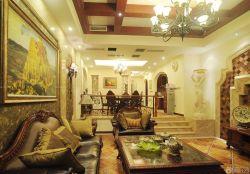 家裝客廳樣板房設計效果圖