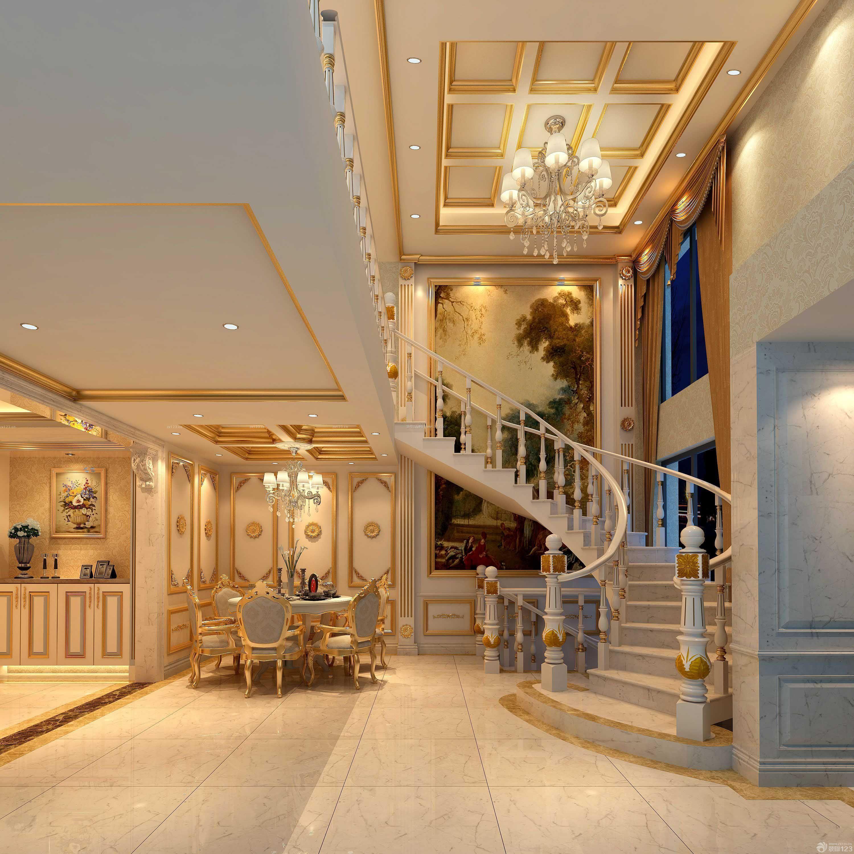 豪华客厅室内楼梯装修效果图