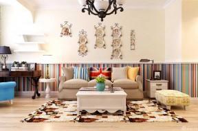 客廳墻面 條紋壁紙
