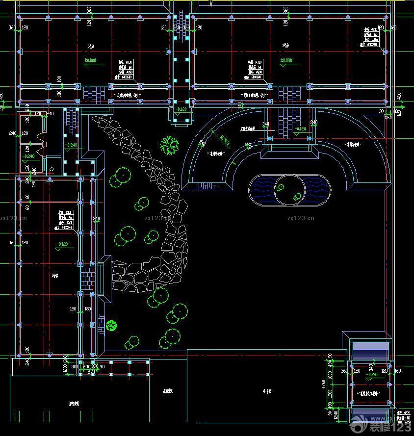 四合院自建别墅平面图