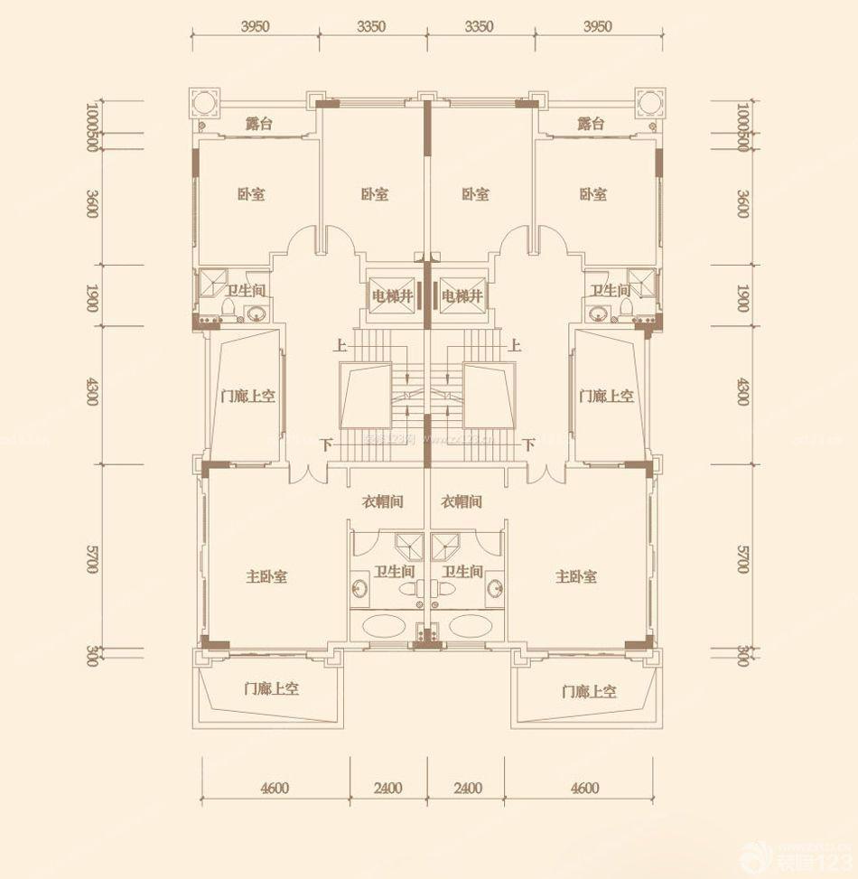 农村双拼电梯洋房小别墅户型图