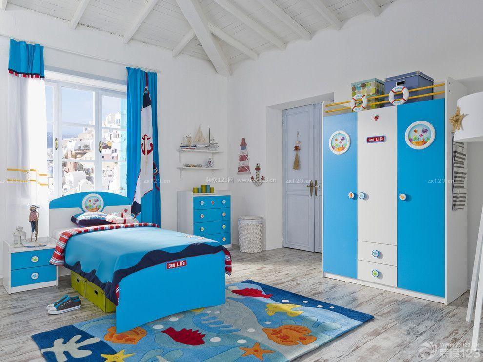 三室一厅可爱儿童房间效果图片_装修123效果图