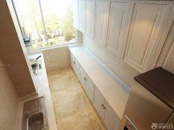 2015 歐式風格整體廚房白色櫥柜設計圖片