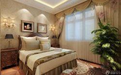 歐式臥室雙人床設計圖
