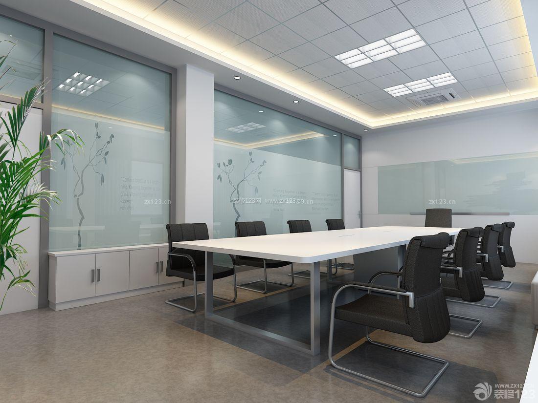现代办公室大厅玻璃背景墙设计图