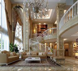 最新欧式复式楼室内旋转楼梯图片大全_装修123效果图图片
