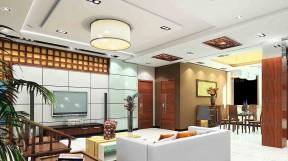 小戶型客廳過道吊頂 中式風格