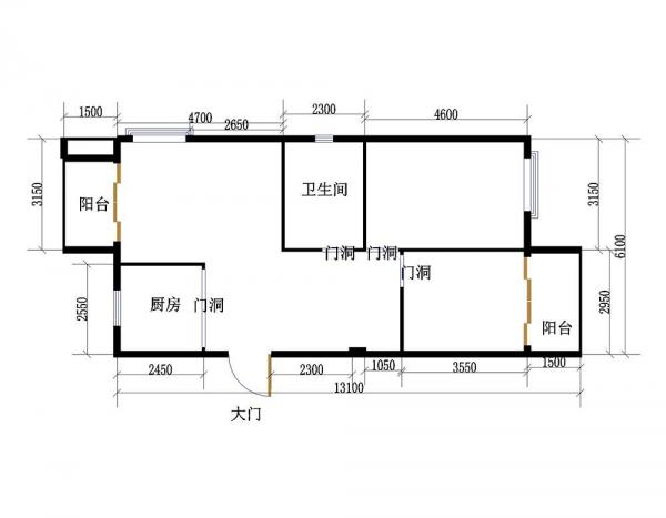 单身公寓长方形户型图大全 _装修123效果图