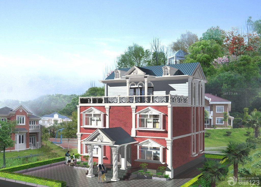 最新欧式风格农村小洋楼设计图图片