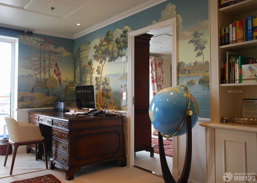 美式风格手绘墙画欣赏
