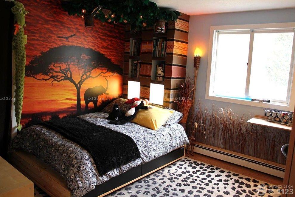 卧室手绘墙画设计效果图片