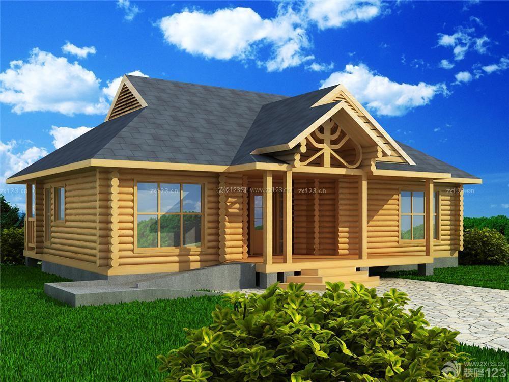 美式风格一层别墅外观设计图