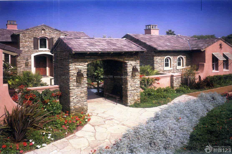 美式价格外观一层别墅风格图戈雅田园别墅公寓图片