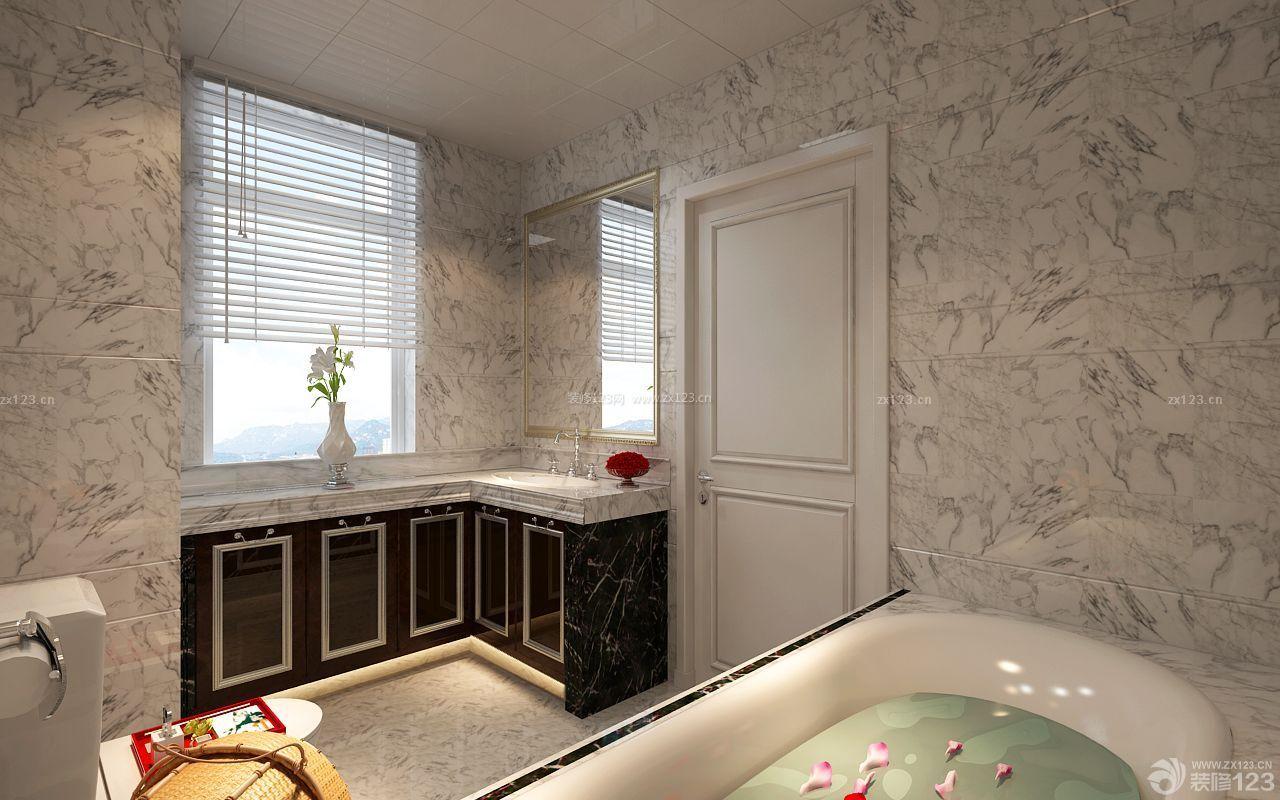 大理石台面浴室柜设计图