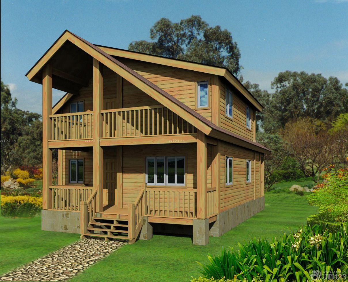 两层小别墅木屋图片大全