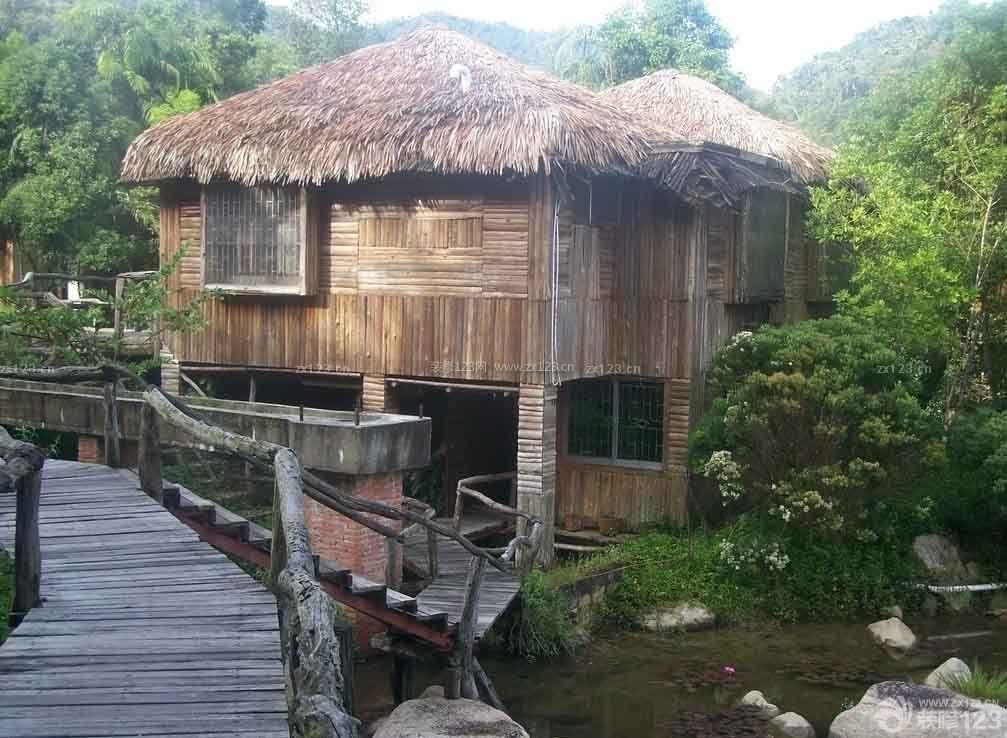 东南亚风格特色小木屋图片大全