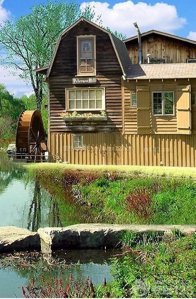 美式乡村小木屋别墅外观图片大全