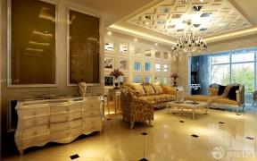 歐式客廳 玻璃吊頂