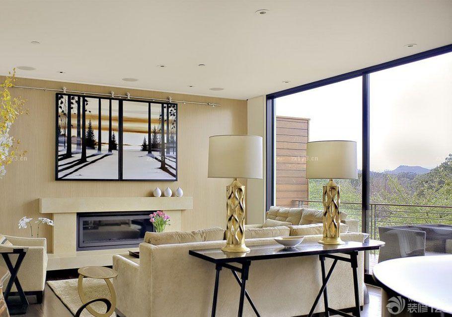 140平米房屋室内落地玻璃窗设计图片图片