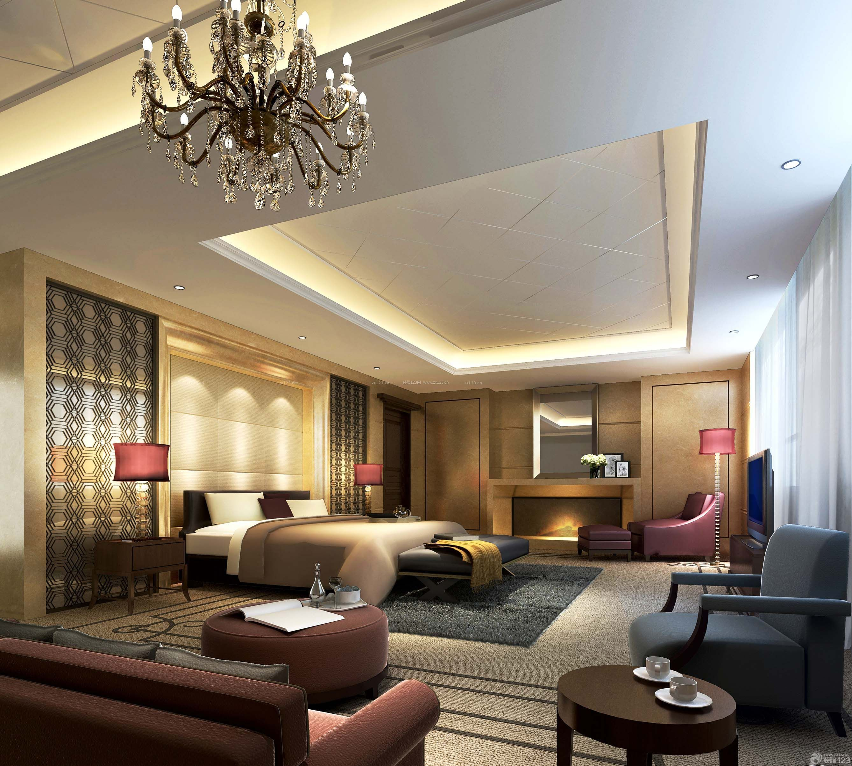 四星级酒店客房设计效果图
